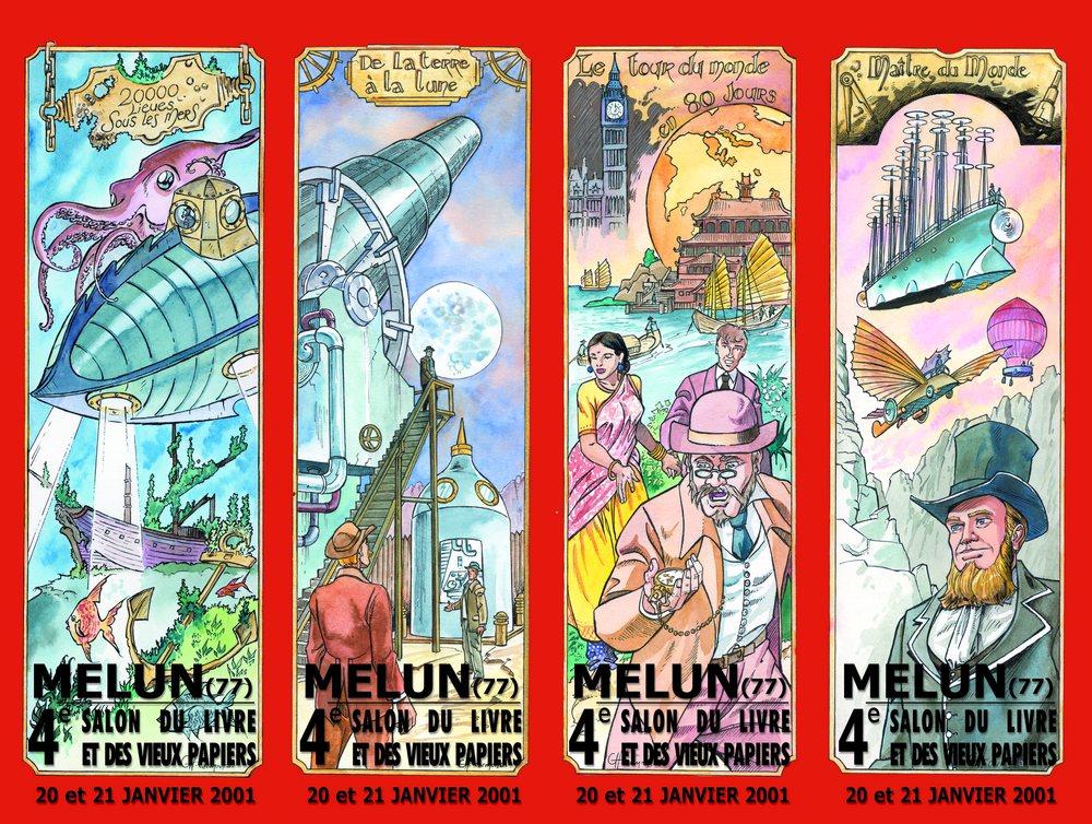 Signets Du 04eme Salon Du Livre 2001 Jules Verne Les